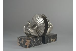 Kelety bronze doves bookends