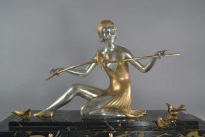 Z. KOVATS art deco bronze sculpture