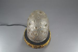 R. LALIQUE glass night lamp