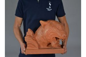 lampiero lanfranchi terracotta. Huge tiger head