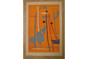 Andre LANSKOI. Composition. Signed lithography