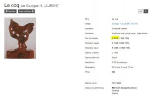 Georges H. Laurent. Art deco bookends pair with parrots