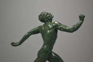 Rare Pierre Le Faguays bronze figure of a runner.