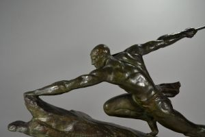Warrior. Pierre Le Faguays bronze figure.