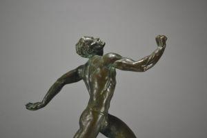 Pierre Le Faguays rare bronze sculpture. The runner.