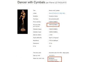 Pierre Le Faguays rare set of 3 chryselephantine dancers