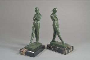 Max Le Verrier rare bookends pair.