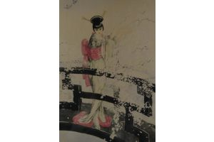Rare Louis ICART (1888-1950) Madame Butterfly