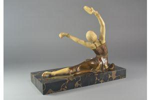 Samuel Lipchytz. Tambourine dancer chryselephantine