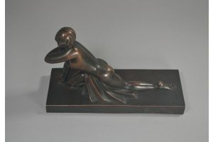 Sibylle May bronze art deco lady