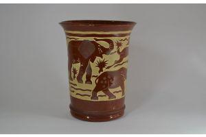 Roger Mequinion. Brown vase. Savannah