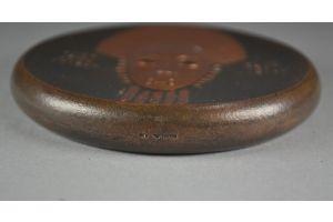 Henri Navarre africanist art deco copper paper weight