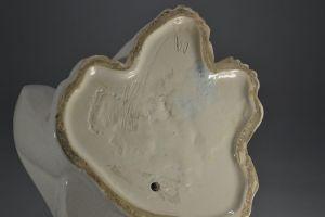 Crackle ceramic art deco cubist polar bear. Martel ? Lemenceau ?