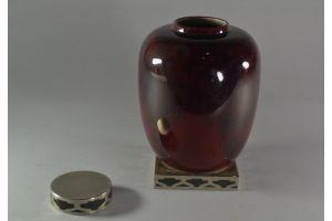 Sevres / Paul Millet art deco lidded pot. rare color