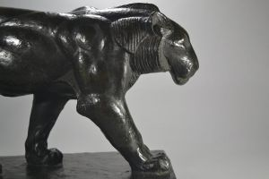 Piero PALAZZOLO bronze walking panther. Circa 1926.