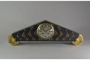 Art deco 1925 clock. Wood and brass. Sue & Mare ? Paul Follot