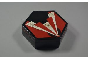 Paul Mergier. Rare lacquered and eggshell box. 1930
