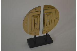 Art deco bronze door handles sculpture