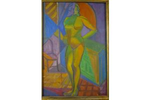 Nicolas Poliakoff. Paris school russian painter. Cubist lady.