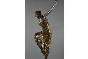 Tall bronze figure of a  Russian Dancer. Paul Philippe. Circa 1925.