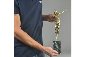 Paul Philippe 41.5cm bronze figure Russian Dancer