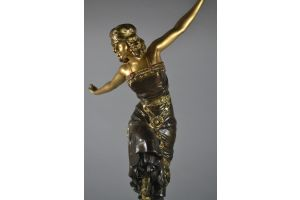 Paul Philippe rare tall version of Russian dancer bronze figure. 59cm