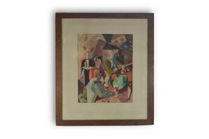 LP. REGENT cubist painting