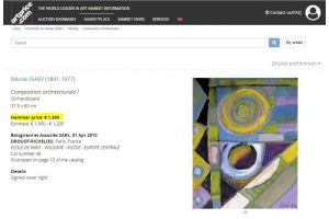 NICOLA ISSAIEV (1891-1977) CUBIST COMPOSITION 3
