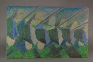 Roland Baudelet. Art deco oil on canvas.
