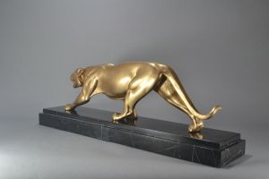 Rulas. Rare art deco bronze panther