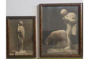 Joseph SAPEY TRIOMPHE 155cm modernist plaster sculpture. Circa 1930
