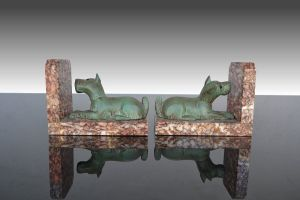 Art Deco Dog Bookends