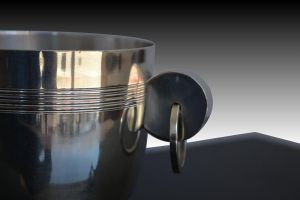 Silver plated art deco ice bucket