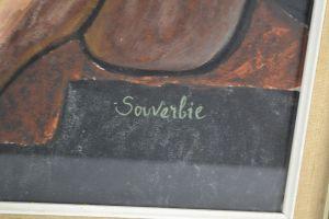 Jean Souverbie watercolor gouache on paper
