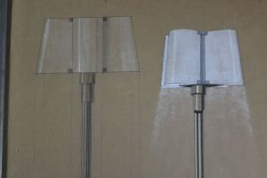 Modernist architect project for a floor lamp. Perzel ? Desny ?