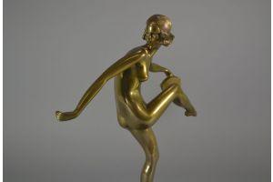Pierre Laurel (Le Faguays) bronze Tambourine dancer