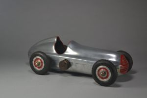 Streamlined tether car. Real engine. Aluminium. Alfa Romeo.