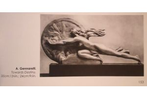 Amedeo Gennarelli. Rare bronze figure