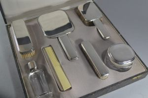 Large art deco vanity set