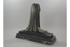 F. Trinque. Art deco bronze dancer figure