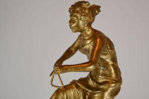 P. Rigal art deco sculpture of a dancer