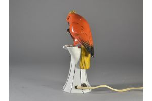 Art deco porcelain perfume burner lamp