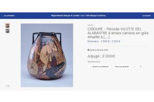 Rare Etienne Vilotte / Ciboure art deco ceramic