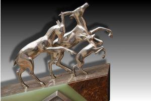 Art deco clock with Voltas bronze