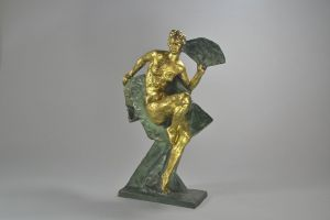 Wanda. Bronze figure of a fan dancer