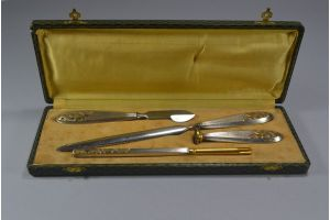 Art deco boxed desk set