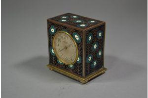 ZENITH art deco enameled clock